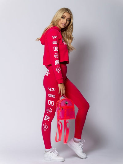 Young and Reckless Womens - Miss Sapporo Crop Hoodie - Hot Pink