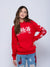 Strike Thru Jr Hoodie - Red