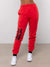 Blurred Vision Sweatpants - Red