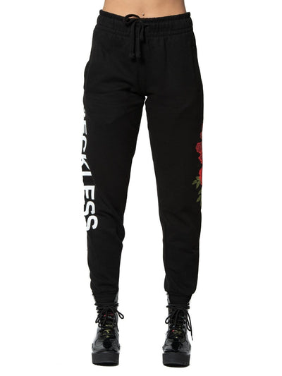 Reckless Girls Womens - Fleece - Sweatpants Miss Rosebud Sweatpants - Black XS/S / BLACK