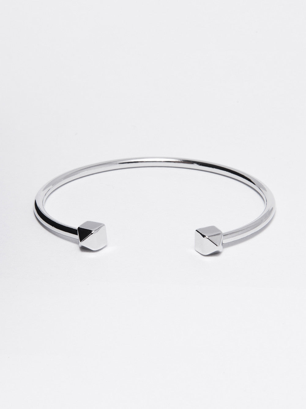 Reckless Girls Womens - Jewelry - Bracelet Silver Pyramid - Tipped Bangle