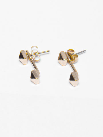 Reckless Girls Womens - Jewelry - Earrings Gold Pyramid Earrings