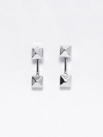 Reckless Girls Womens - Jewelry - Earrings Silver Pyramid Earrings