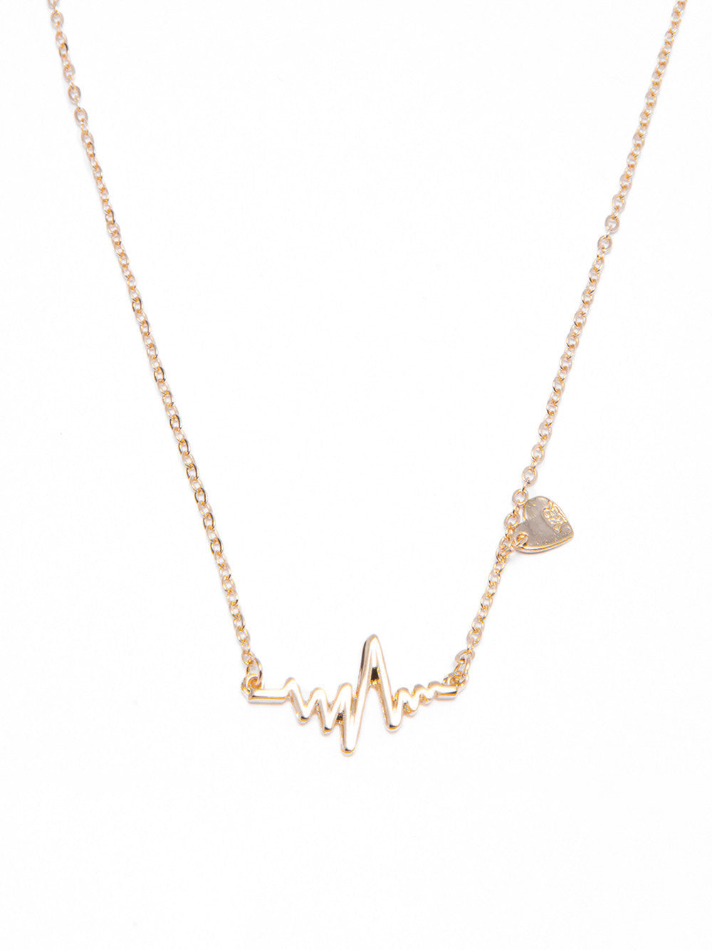 Reckless Girls Womens - Jewelry - Necklace Gold Pulse Necklace