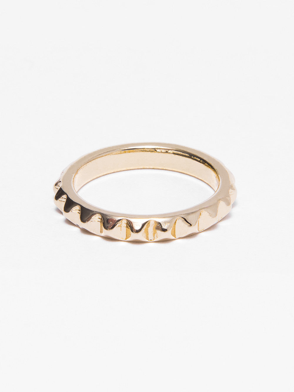 Reckless Girls Womens - Jewelry - Rings Gold Pyramid Rings