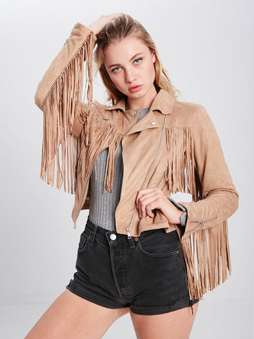 Reckless Girls Womens - Outerwear - Lightweight Jackets Dylan Fringe Jacket