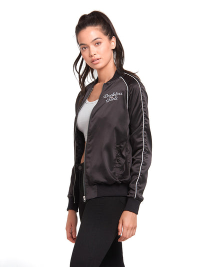 Reckless Girls Womens - Outerwear - Lightweight Jackets Girl Squad Jacket- Black