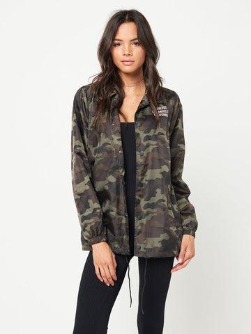 Reckless Girls Womens - Outerwear - Lightweight Jackets In the Trenches Coach Jacket- Camo