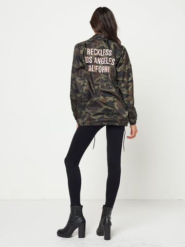 In the Trenches Coach Jacket- Camo