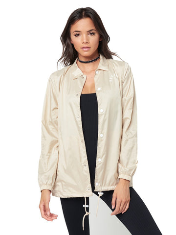 Reckless Girls Womens - Outerwear - Lightweight Jackets Sunrise Coach Jacket- Sand