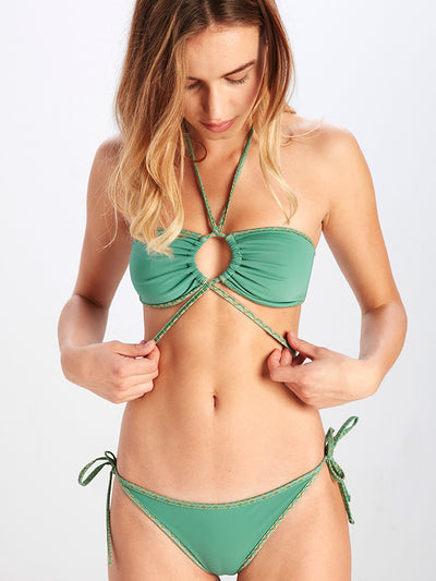 Reckless Girls Womens - Swimwear - Bikini Chloe Halter Bandeau Bikini Top - Emerald