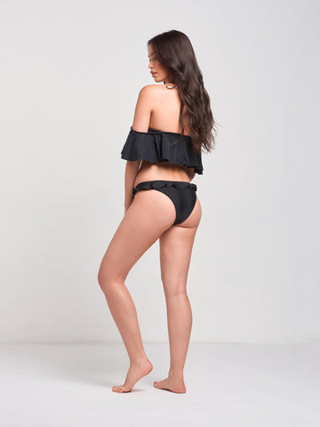 Cove Flutter Swim Top- Black