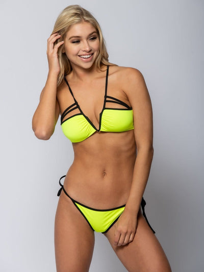 Reckless Girls Womens - Swimwear - Bikini Veronique Tie Back Bikini Top - Yellow