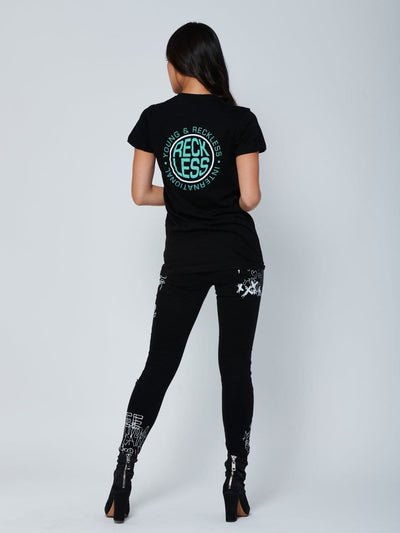 Reckless Girls Womens - Tops - Graphic Tees Inflate Tee - Black