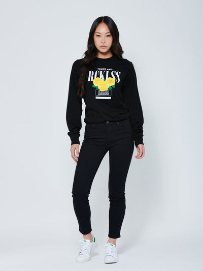 Young and Reckless Womens - Blossom Long Sleeve - Black