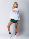 Young and Reckless Womens - Miss Untouchable Bars Longsleeve Tee - White