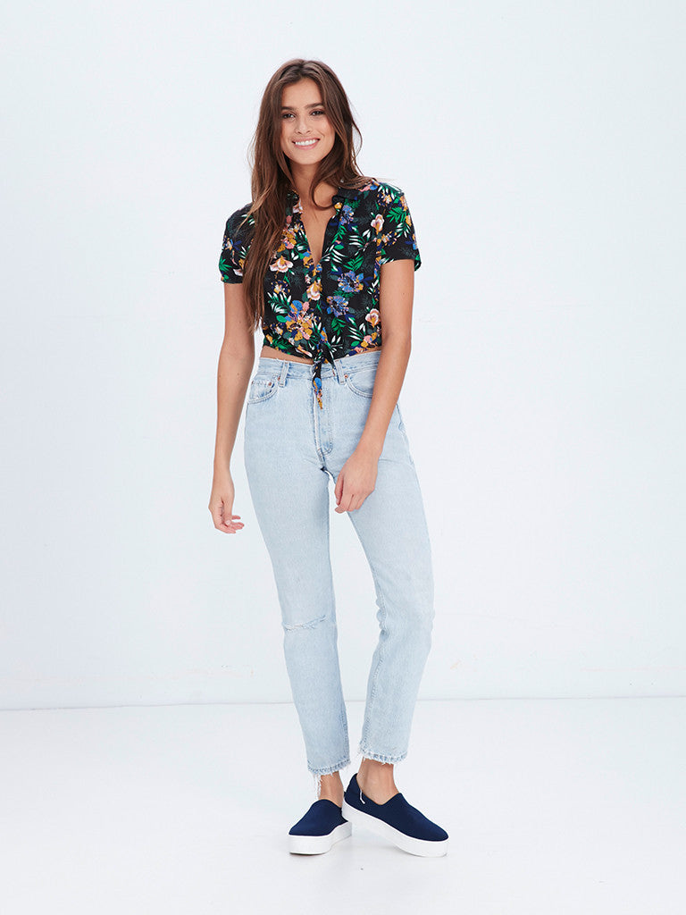 Chrissy Short Sleeve Button Up