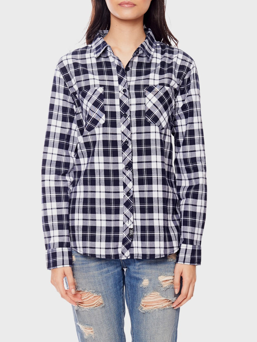 Freebase Blue Plaid - Blue/White