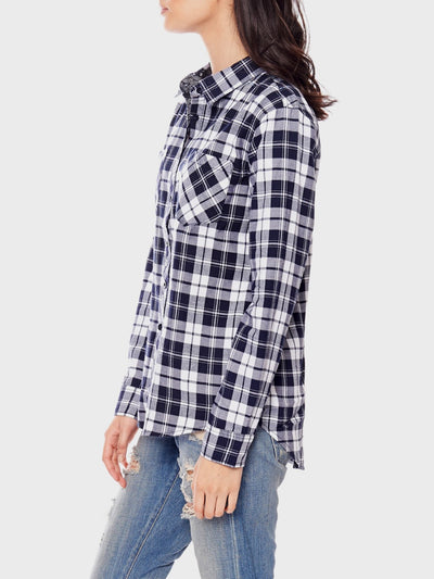 Reckless Girls Womens - Tops - Shirts / Blouses Freebase Blue Plaid