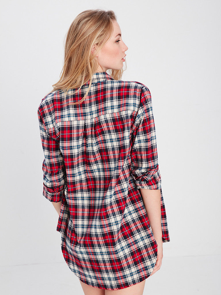 Lena Button Up - Red