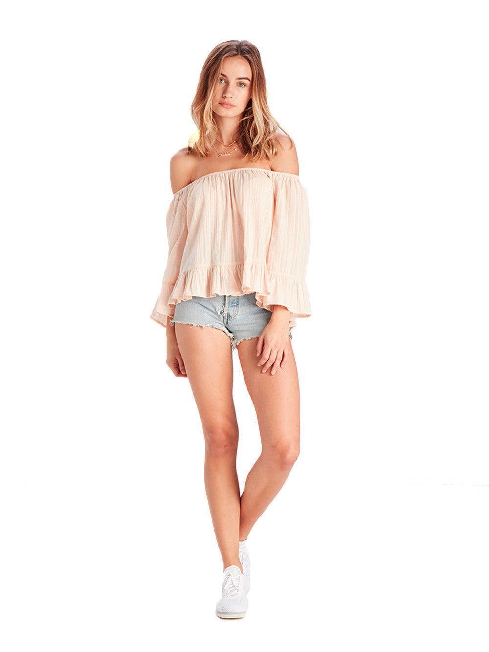 Reckless Girls Womens - Tops - Shirts / Blouses Victoria OS Top Blush