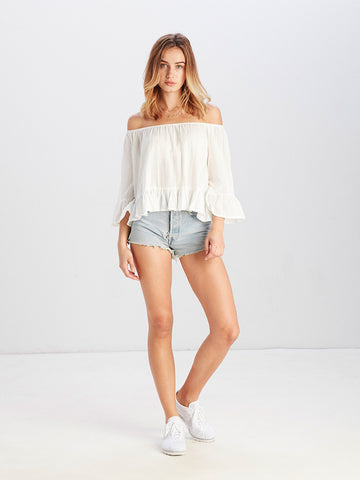 Reckless Girls Womens - Tops - Shirts / Blouses Victoria OS Top White