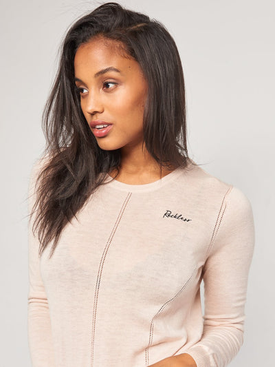 Reckless Girls Womens - Tops - Sweaters Kassidy Sweater- Blush