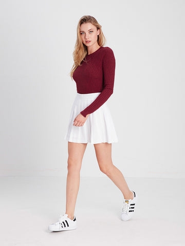 Ruby Sweater - Burgundy