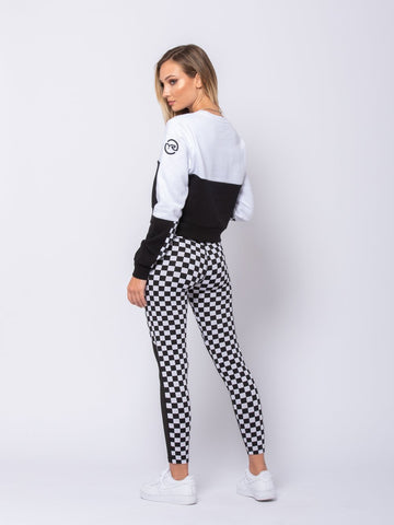 Davina Crewneck - White/Black