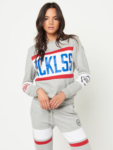 Reckless Girls Womens - Tops - Sweatshirts Kimberly Crew Sweater- Grey