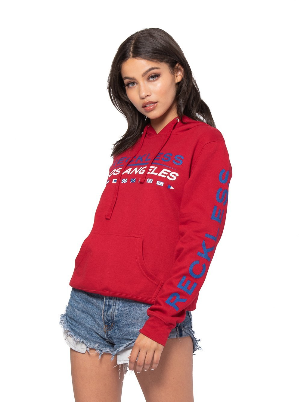 Reckless Girls Womens - Tops - Sweatshirts Nautical Jr Hoodie - Red