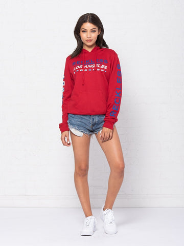 Nautical Jr Hoodie - Red