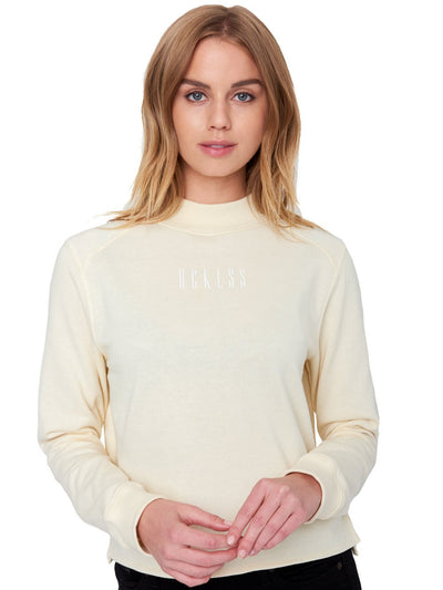 Reckless Girls Womens - Tops - Sweatshirts Navaeh Crewneck Sweater- Tan