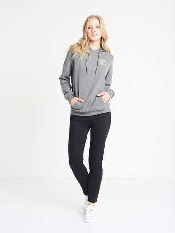 Reckless Girls Womens - Tops - Sweatshirts No Passing Hoodie- Charcoal Grey
