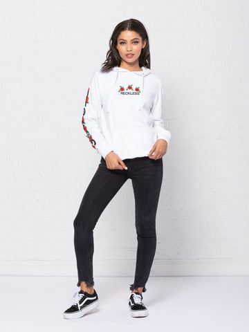 Rose Bush Jr Hoodie - White