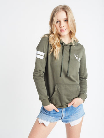 Reckless Girls Womens - Tops - Sweatshirts Sergeant Hoodie- Olive