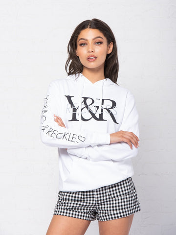 Reckless Girls Womens - Tops - Sweatshirts Staple Jr Hoodie - White