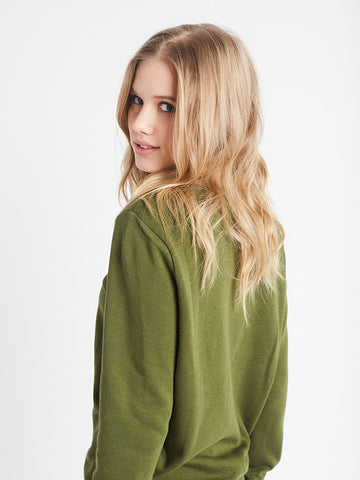 Steady Flow Crewneck Fleece- Olive