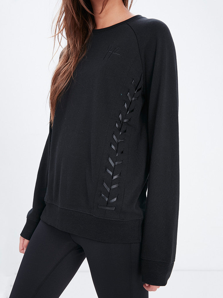 Y Plus R Crew Fleece - Black