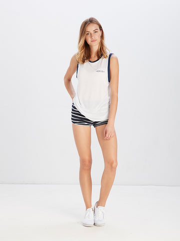 Reckless Girls Womens - Tops - Tanks Simple Blvd Stripes Tank