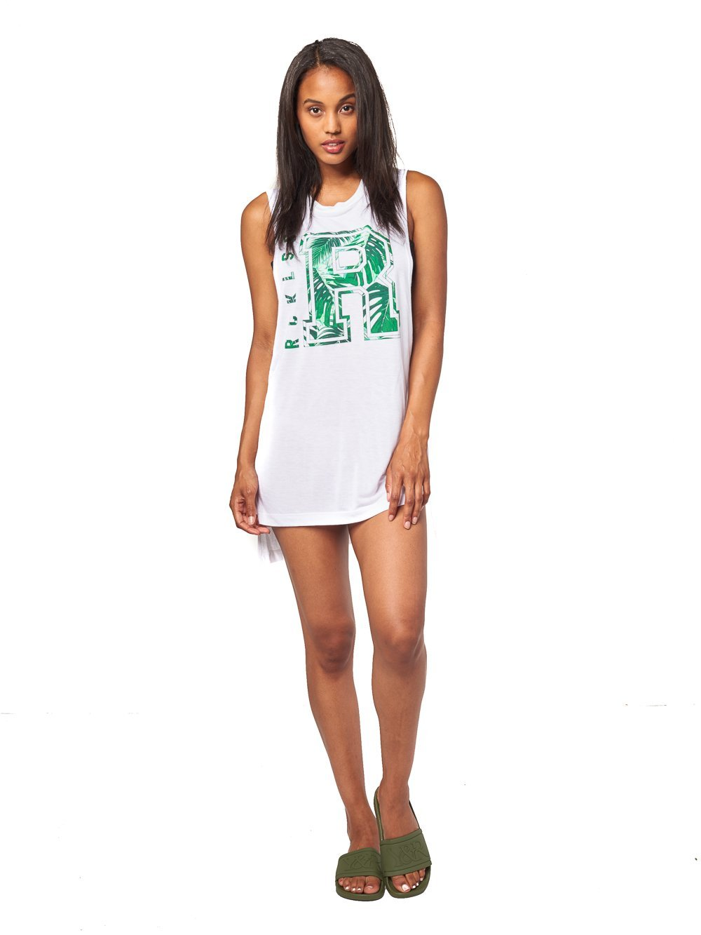 Reckless Girls Womens - Tops - Tanks Slide By Tunic- White