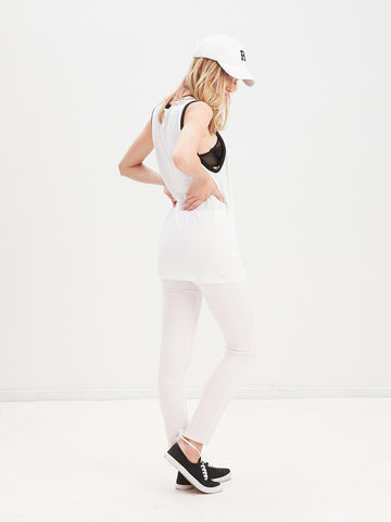 Strike Out Muscle Tank - White