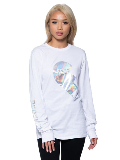 Reckless Girls Womens - Tops - Tees Annie Long Sleeve Tee - White XS/S / WHITE