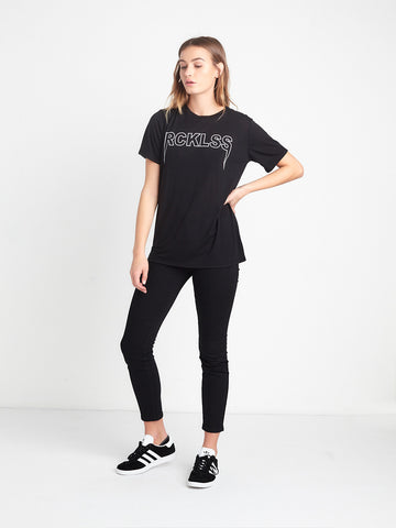 Reckless Girls Womens - Tops - Tees Dark Road BF Tee - Black