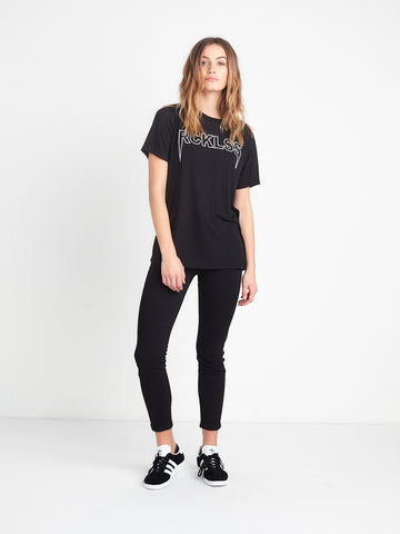 Dark Road BF Tee - Black