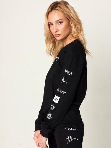 Head2Head Jr Long Sleeve Tee - Black