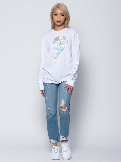 Reckless Girls Womens - Tops - Tees Lillian Long Sleeve Tee - White XS/S / WHITE