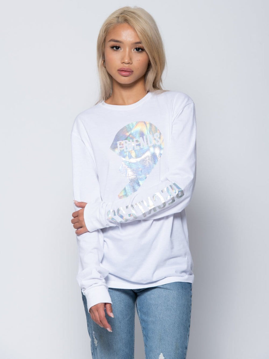 Lillian Long Sleeve Tee - White