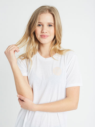 Reckless Girls Womens - Tops - Tees Pamela Boyfriend Tee- White