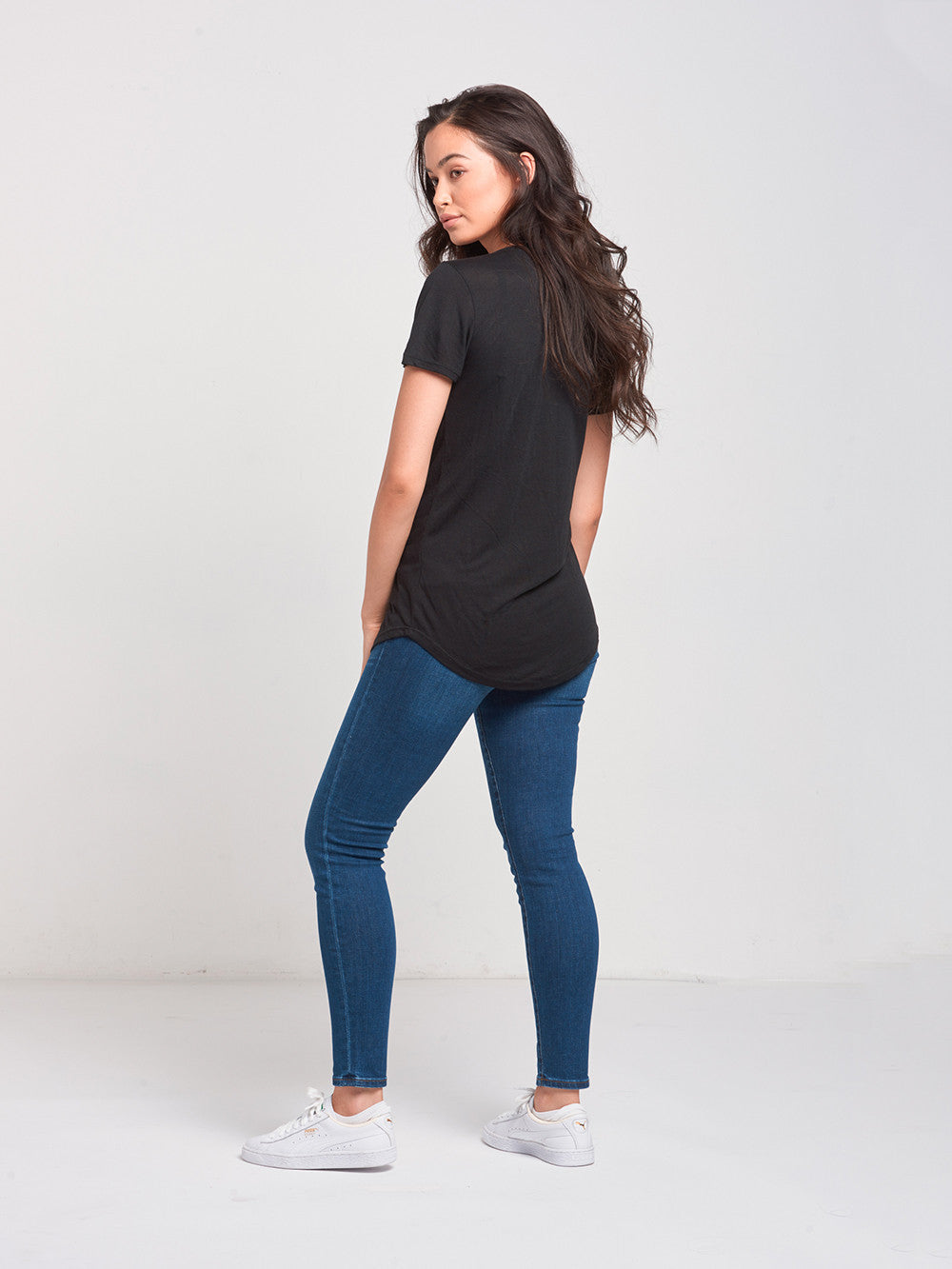 Reckless Girls Womens - Tops - Tees Reckless Native Scoop Neck Tee- Black